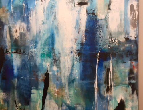 Olie/akryl maleri